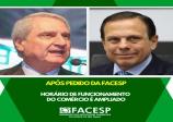 O Governo do Estado de São Paulo atendeu a um pedido da #Facesp e ampliou o horário de funcionamento do comércio