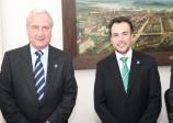 O presidente da Facesp, Alfredo Cotait Neto, esteve hoje em Santos.