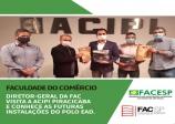 Diretoria da Faculdade do Comércio conhece as futuras instalações do polo EAD na ACIPI Piracicaba