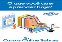 A Associação Comercial de Capão Bonito em ação com o SEBRAE está disponibilizando cursos gratuitos